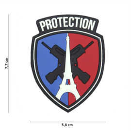 Embleem 3D PVC met klittenband - Protection Eiffeltoren - 7,7 x 5,8 cm.