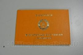 Dienstbuch DDR Ministerium des Innern Feuerwehr - ongebruikt - origineel