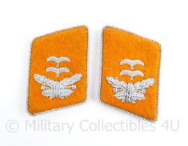 Replica Wo2 Duitse officiers Luftwaffe kraagspiegels verbindingen - Oberleutnant