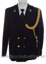 Nederlandse politie uniform jas met kraagspiegels en koord - maat 55 = XL - origineel