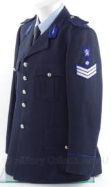 """Belgische politie uniform jas - rang """"hoofdagent"""" - maat 50 - origineel"""