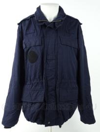Nederlandse politie ME jas Mobiele Eenheid donkerblauw - met portofoon lussen en klittenband (zonder emblemen) - maat 52 tm. 54 - origineel