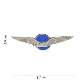 Koninklijke Luchtmacht Klu  Vlieger wing klu wing met blauwe achtergrond