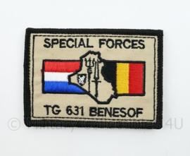 NL BE Nederland België Special Forces TG 631 BENESOF embleem - met klittenband - 8 x 6 cm