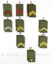 KL set epauletten schouderstukken Rangen van de blouse -  vanaf 2000 - origineel