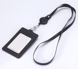 ID badge houder met nekkoord - ZWART - nieuw gemaakt