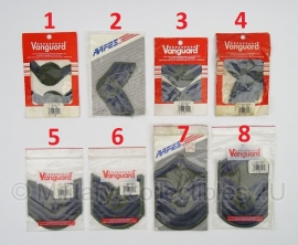 USAF US Airforce Vanguard en AAFES RANK patches - in verpakking - 10 cm. breed - 1 paar - origineel