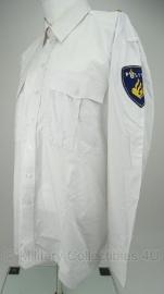 Nederlandse Politie wit overhemd - lange mouw - MET EMBLEMEN  - origineel