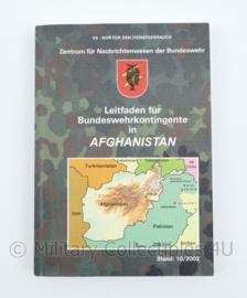 Bundeswehr handboek Leitfaden fur Bundeswehrkontingente in Afghanistan 10-2022 - origineel