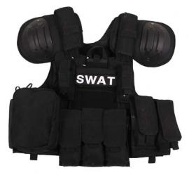 SWAT EN ME assault vest - extra beschermend - zwart