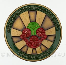US Army Spearhead of logisitics 484th Transportation Battalion (MC) Coin - origineel