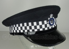 Britse politie heren platte pet - Metropolitan Police -  maat 56 tm. 60 - origineel