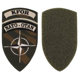 NATO OTAN KFOR insigne met klittenband - origineel