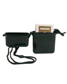 Waterdichte houder met nekband - 25 x 70 x 110 mm (voor bijv. sigaretten)