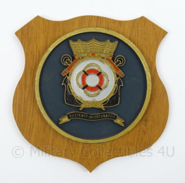 KM Marine wandbord SMD Sociaal Medische Dienst der Zeemacht - afmeting 16,5 x 16 x 0,5 cm - origineel