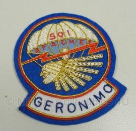 501st PIR parachute infantry Regiment Geronimo Airborne patch - officer type