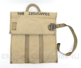 Wo2 US Army transport bag khaki - 49 x 46,5 x 4 cm - origineel