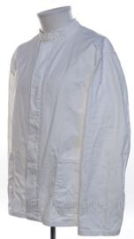 KM Koninklijke Marine ANTIEKE witte tropen uniform jas met opstaande kraag Toetoep - maat 50 - origineel