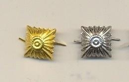 Schouderstukken sterren - zilver of goud - prijs per stuk