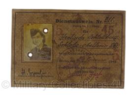 SS dienstausweis - replica