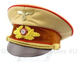 NSDAP Schirmmütze für Politische Leiter der Ortsgruppenleitung replica -  rode bies - maat 58 tm. 60