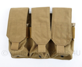 Nederlands leger Diemaco C7 triple mag pouch coyote - maker Profile Equipment - 19 x 25,5 x 4 cm - ongebruikt - origineel