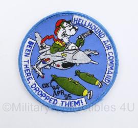 Klu Luchtmacht Hellhound Air Command Been There, Dropped Them! - met klittenband -  diameter 10 cm - origineel