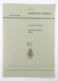KL Landmacht Technische Handleiding Armatuur Algemeen MX7254 - TH11-675 - afmeting 30 x 21 cm - origineel