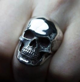 Doodskop Ring totenkopf ring  - size 7 tm. 10