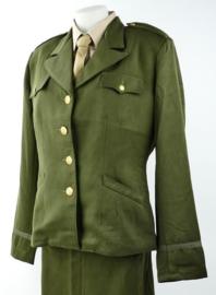 WO2 US Dames WAC officer class A jas replica OD Green-  size 38 t/m 48