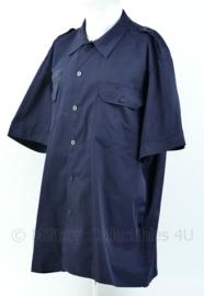 Nederlandse Defensie donkerblauw overhemd - korte mouw - maat 9010/2025 - origineel