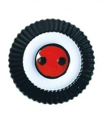 Kokarde für Krätzchen, Reich (zwart/wit.rood)