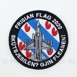 KLU Luchtmacht Frisian Flag 2020 Skütsjesilen? Gjin Fleanen! embleem - met klittenband - diameter 9 cm