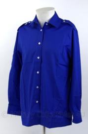 Overhemd voor burgers in dienst van Defensie burgerpersoneel- blauw -  maat 40-4 of 42-4 - nieuw - origineel
