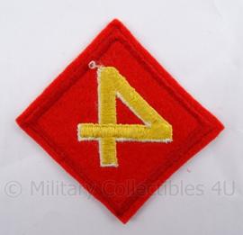 USMC Marines embleem - USMC 4th marine division patch  - 9 x 9 cm - origineel