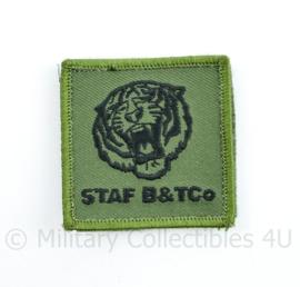 Defensie nieuwste model 2021 borst embleem klittenband Staf B & TCo  Bevoorradings-en Transportbataljon - 5 x 5 cm - origineel