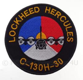 """KLu Koninklijke Luchtmacht Lockheed Hercules """"C-130H-30"""" -  met klittenband - diameter 10 cm"""