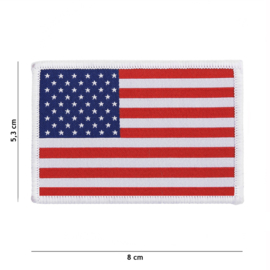 Uniform landsvlag VS Verenigde Staten embleem stof met klittenband - 5,3 x 8 cm