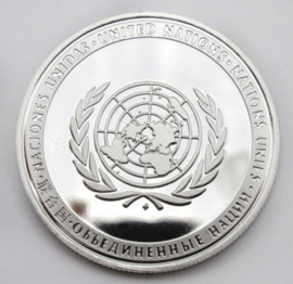 VN UN United Nations coin - doorsnede 4 cm