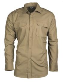 Overhemd COYOTE katoen hbt ripstop - lange mouw - veel op voorraad