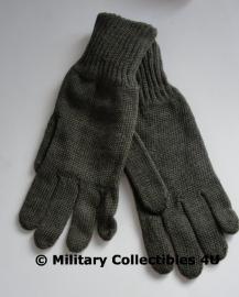 Belgische leger ABL Handschoenen wol - groen - maat 2 = medium  - origineel