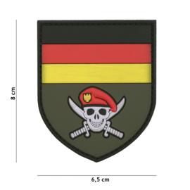 Embleem 3D PVC met klittenband - Bundeswehr Commando 6,5 x 8  cm.