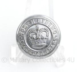 Britse politie North Riding Constabulary knoop 25 MM zilver- origineel