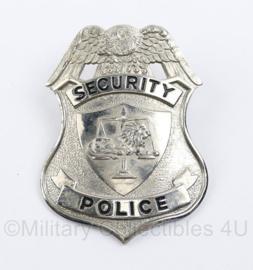 US Security Police Badge - 8 x 5,5 cm - origineel