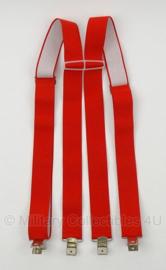 Brandweer bretels rood - met clip bevestiging - origineel