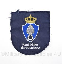 Kmar Koninklijke Marechaussee blauw borst embleem  - 12 x 11,5 cm - origineel
