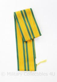 Nederlands medaille lint geel met groene strepen - 23 cm - origineel
