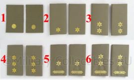 KL Nederlandse leger Stratotex Officiers schouderstukken - verschillende rangen - origineel