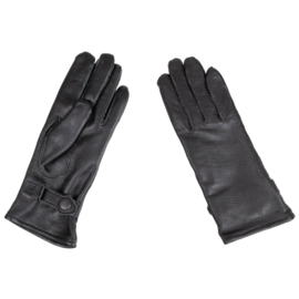 KL Nederlandse leger handschoenen met riempje DAMES - zwart leer - NIEUW - maat 8,5 - origineel
