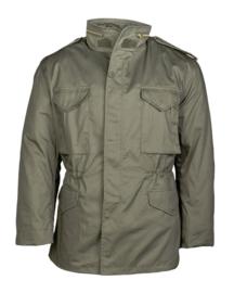 US field Jacket M65 with liner - groen - licht gedragen - maat Medium - nieuw gemaakt